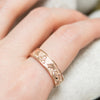 Bespoke Wedding Ring - Fairtrade rose gold with lion, dragon and Celtic Trinity Knot engraving 5