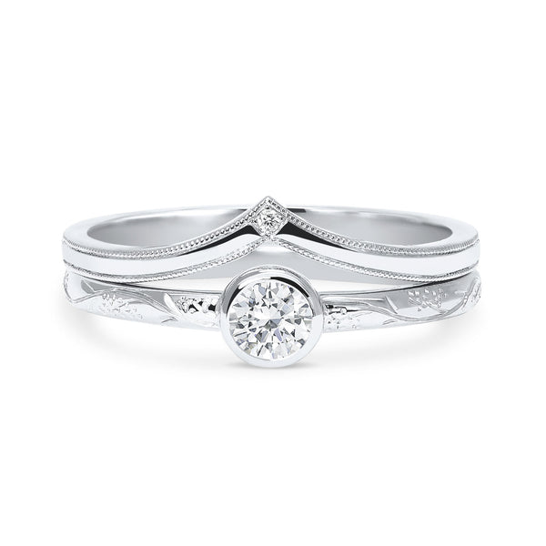 Charlotte wedding & engagement ring