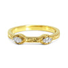 Bespoke Laura wedding ring - Fairtrade Gold, marquise diamonds, milgrain and scrolls 2