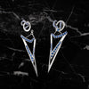 Bespoke Arrow Sapphire Earrings - 18ct white gold, ethical blue sapphires and dismountable structure 3