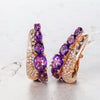 Bespoke earrings - amethyst, rose gold and diamonds  2