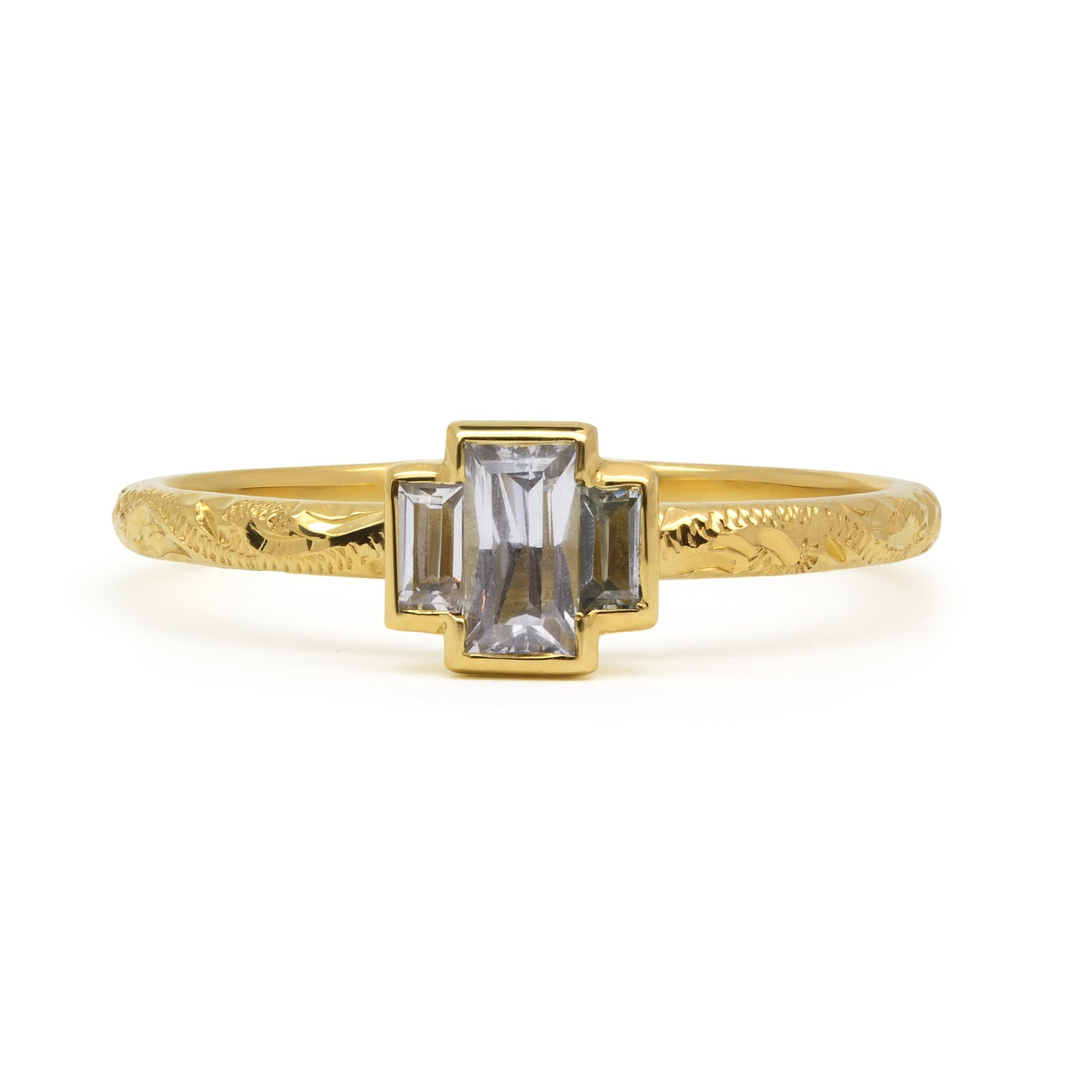 Candy Pop Trilogy Sapphire Engagement Ring, 18ct Ethical Recycled Gold