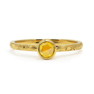 Candy Pop Yellow Sapphire Engagement Ring, 18ct Ethical Recycled Gold