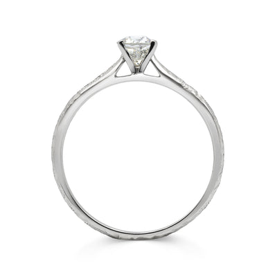An ethical spin on the classic solitaire engagement ring