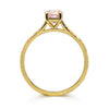 Fancy Athena Pink Sapphire Engagement, Recycled Yellow Gold 2
