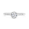 Large Hebe Ethical Diamond Engagement Ring - hand engraved engagement rings