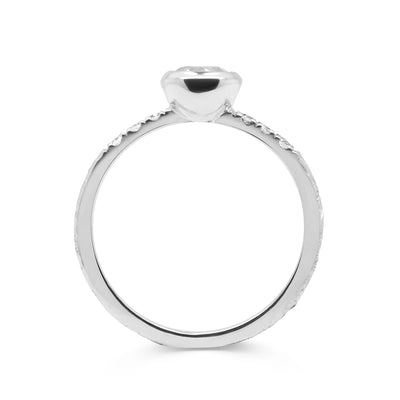 Large Hebe Ethical Diamond Engagement Ring - rub-over setting 2