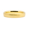 Court Soft Hammered Matt Ethical Gold Wedding Ring, Medium