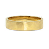 Flat Court Soft Hammered Ethical Gold Matte Wedding Ring, Wide