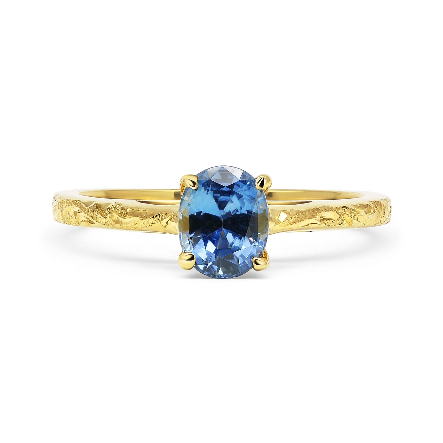 Fancy Athena Oval Sapphire Engagement Ring, 18ct Fairtrade Gold