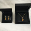Bespoke Citrine Pendant and Earring set - 18ct yellow gold, ethically-sourced citrine and white diamonds 3