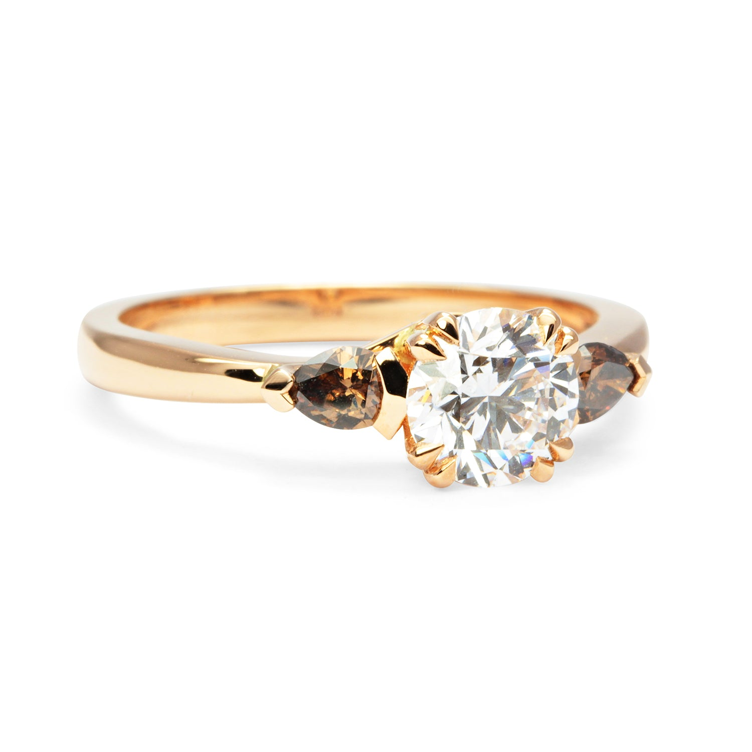 Bespoke Chris Ethical Diamond Trilogy Engagement Ring