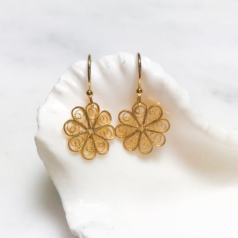 Rosette Filigree Earrings