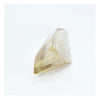 Rutilated Quartz, Asymmetric Faceted Rhomboid