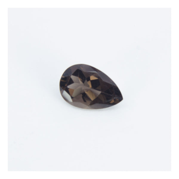 Smoky Quartz, faceted pear shape