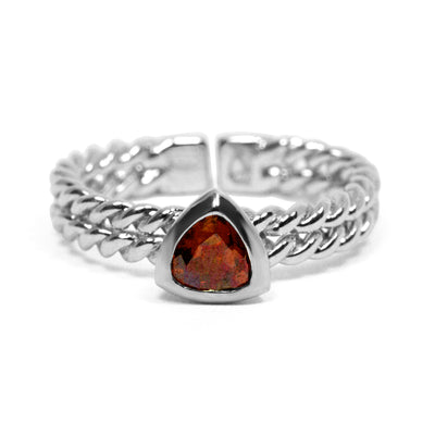 Gemstone Trillion Stacking Ring
