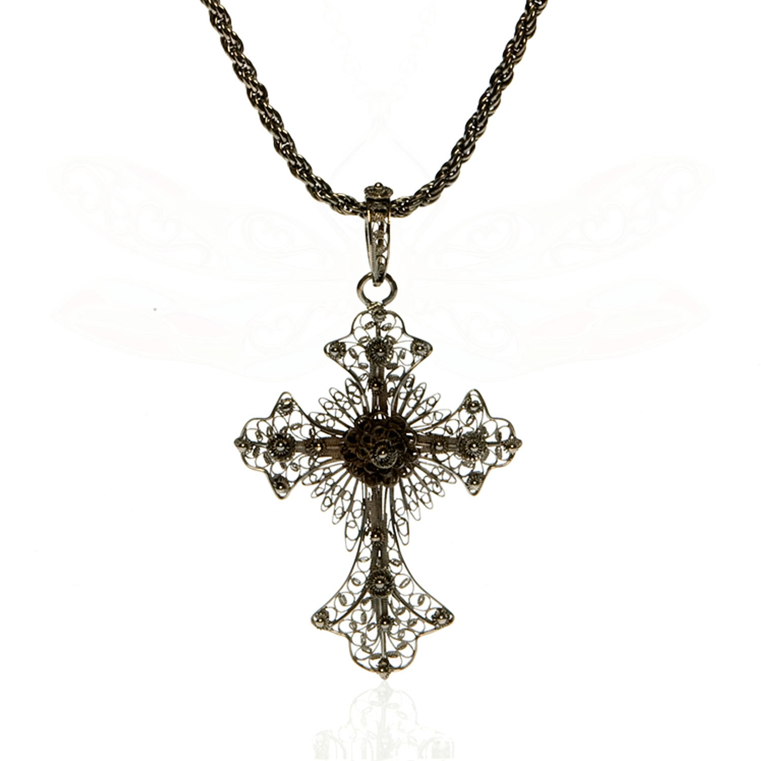 Filigree Black Cross