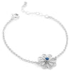 Filigree Friendship Rosette Bracelet, with Sapphire Gemstone. Sterling silver