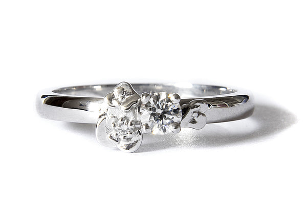 Bespoke Jewellery- Chiara engagement ring in 18ct white gold- Arabel Lebrusan