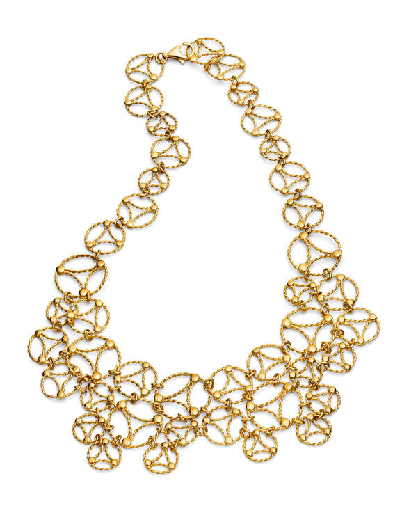 Lace Necklace. Yellow Gold