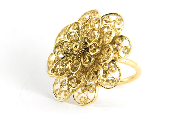 Filigree Rosette Ring. Gold