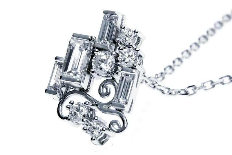 Bespoke Jewellery - Manuela Diamond White Gold Pendant front- Arabel Lebrusan