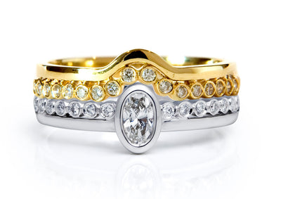 Bespoke Jewellery - Roberta Diamond Gold Wedding Ring - Arabel Lebrusan