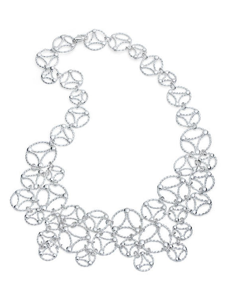Lace Necklace. Sterling Silver