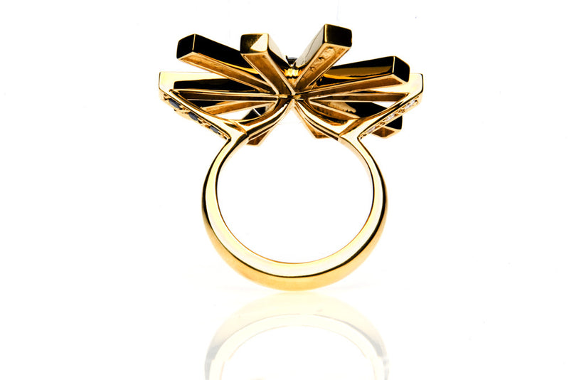 "Diamond ""SOL"" Cocktail Ring - Arabel Lebrusan"