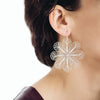 Filigree Rosette Large Earrings. Yellow gold