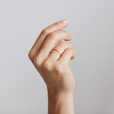 Harmony Flat Ethical Gold Wedding Ring