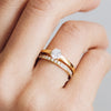 Solar Ethical Diamond Engagement Ring, 18ct Fairtrade Gold