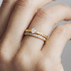 Cherish Full Diamond Ethical Gold Eternity Wedding Ring, 18ct Fairtrade Gold