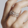 Filigree Enchanting Clover Ring in Silver - Arabel Lebrusan