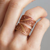 Filigree Links Ring. Rose Gold