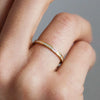 Promise Half Diamond Ethical Gold Eternity Wedding Ring 7