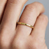 D Shape Beloved Diamond Ethical Gold Wedding Ring 2mm