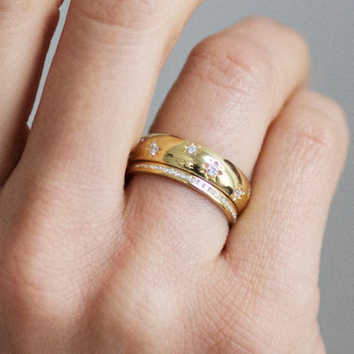 Promise Half Diamond Ethical Gold Eternity Wedding Ring 9
