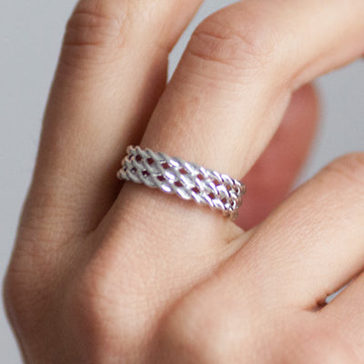 Lace Triple Ring. Silver