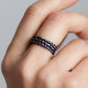 Lace Triple Ring. Black