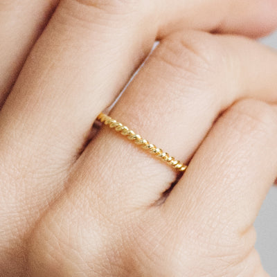Braided Ethical Gold Wedding Ring, 18ct Ethical Gold 5