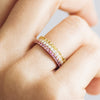 Altair Half Microset Ethical Ring, Pink Sapphire & 18ct Fairtrade Gold