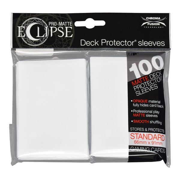 Ultra Pro-Matte Eclipse White Standard Deck Protector sleeves 100ct