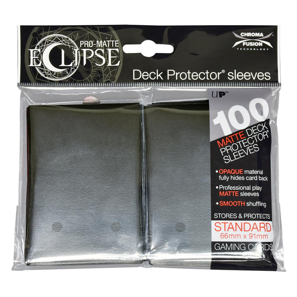 Ultra Pro-Matte Eclipse Black Standard Deck Protector sleeves 100ct