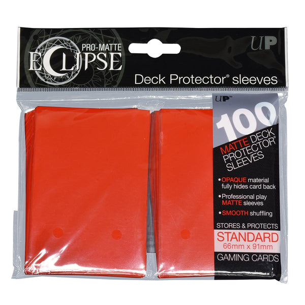 Ultra Pro-Matte Eclipse Red Standard Deck Protector sleeves 100ct