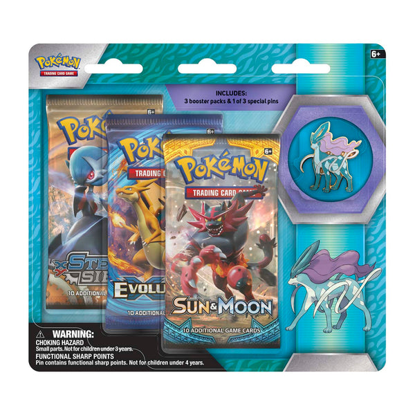 Pokémon TCG Legendary Collector's Pin 3-Pack Blister, Suicune