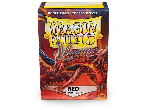 Dragon Shield Matte Sleeves 100ct Standard Size - Red