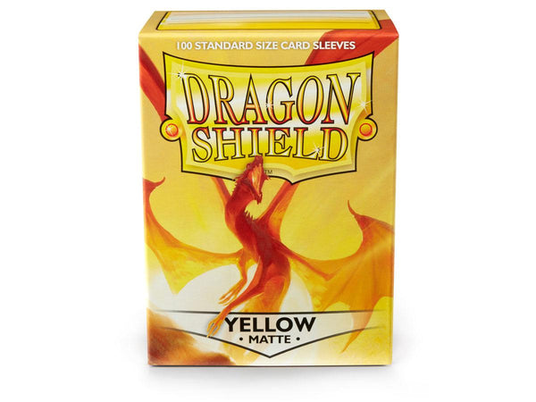 Dragon Shield Matte Sleeves 100ct Standard Size - Yellow