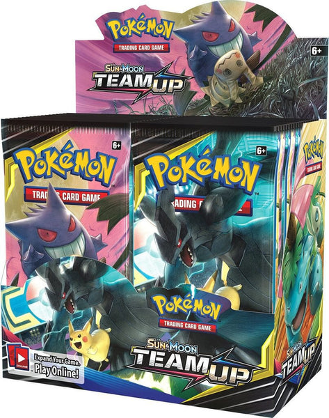 Pokemon TCG SM9 Team Up English Booster Box Factory Sealed