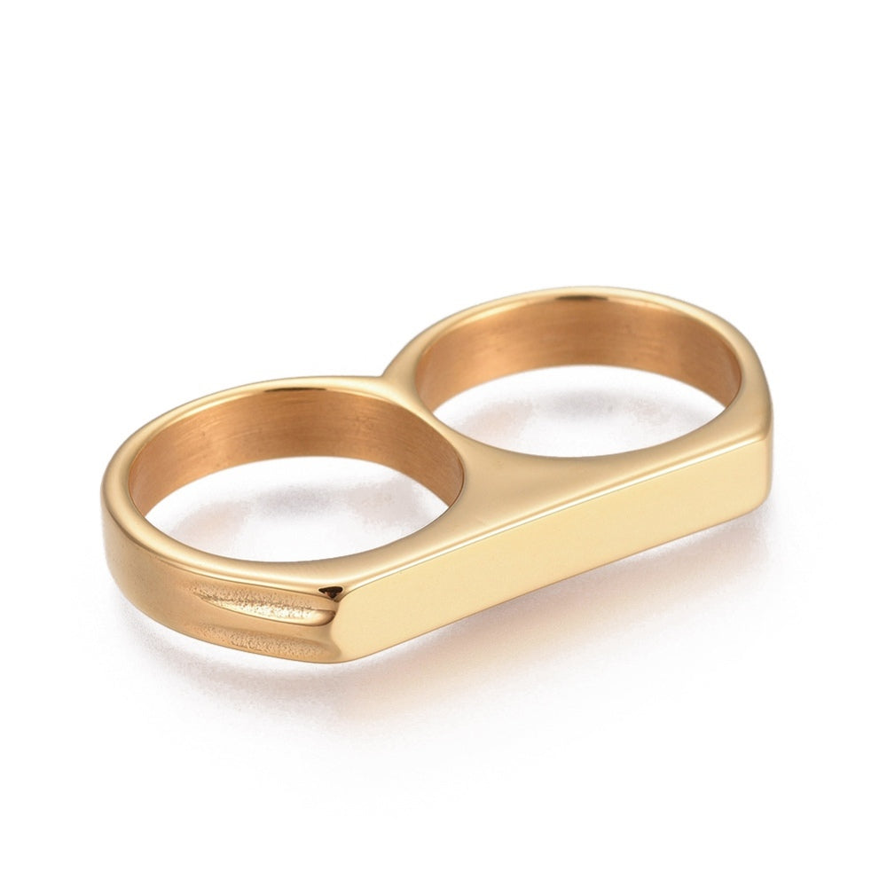 Double Up Two Finger Ring